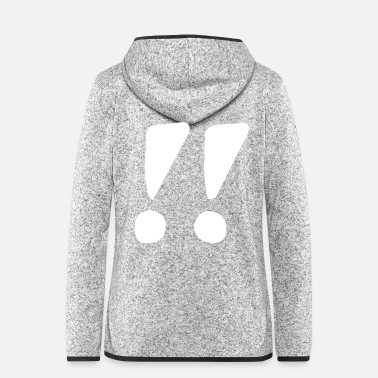 Two Two exclamation marks - Women's Hooded Fleece Jacket