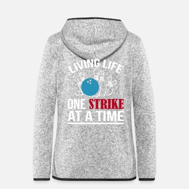 Strike One Strike Bowling - Frauen Fleece Kapuzenjacke