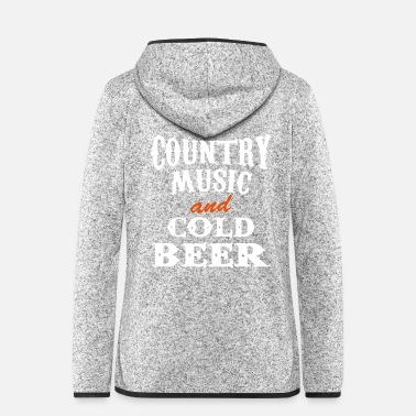 Country country beer - Frauen Fleece Kapuzenjacke