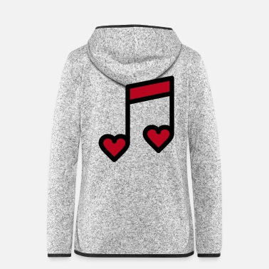 Romantisch Romantische Musik Note - Frauen Fleece Kapuzenjacke