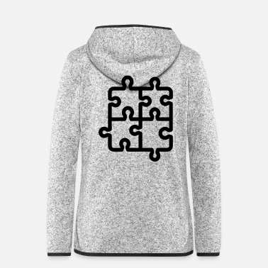 Piece puzzle pieces - Women's Hooded Fleece Jacket