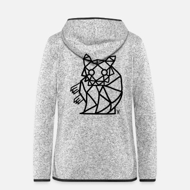 Rodent Hamster geometric Hamster - Women's Hooded Fleece Jacket