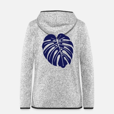 Leaf monstera leaf - Frauen Fleece Kapuzenjacke