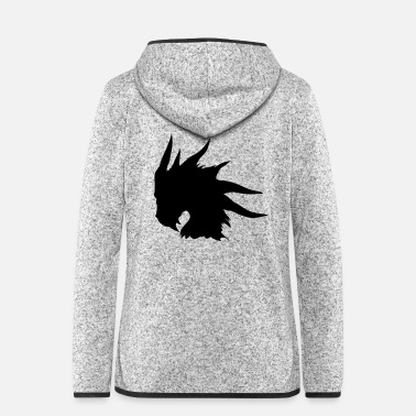 dragon head - Women's Hooded Fleece Jacket