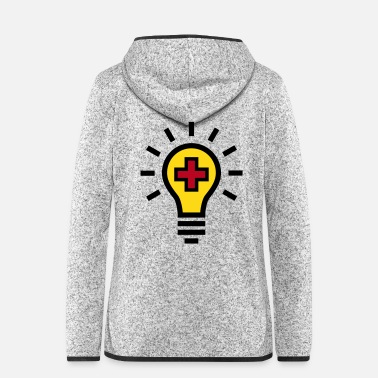 Light Light bulb idea health - Women's Hooded Fleece Jacket