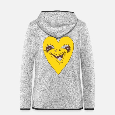 Lovely Heart Grimace - Ugly heart face - Women's Hooded Fleece Jacket