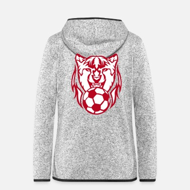 Ballon De Foot foot guepard logo face cartoon - Veste à capuche polaire Femme