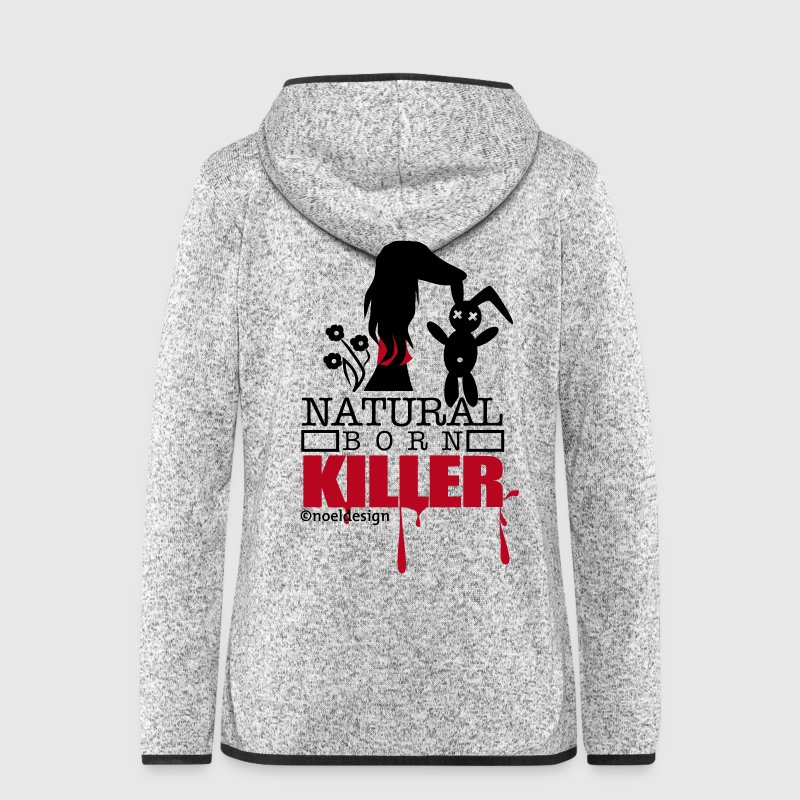 Natural born Saluki - Women's Hooded Fleece Jacket