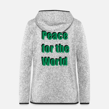 Shade Peace for the World Shadow baby gift birth - Women's Hooded Fleece Jacket