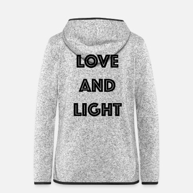 Light LOVE AND LIGHT - Women's Hooded Fleece Jacket