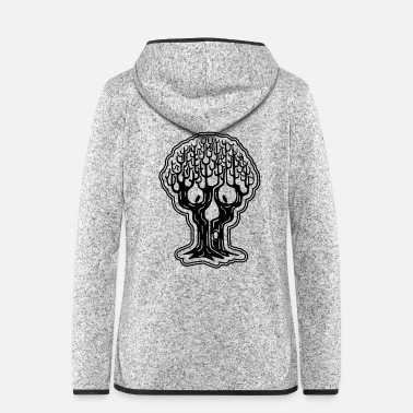 Trick Or Treat Totenkopf Baum Totenkopfbaum Horrorwald Halloween - Frauen Fleece Kapuzenjacke