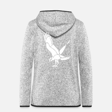 Storch Vogel Adler Greifvogel Krähe - Frauen Fleece Kapuzenjacke