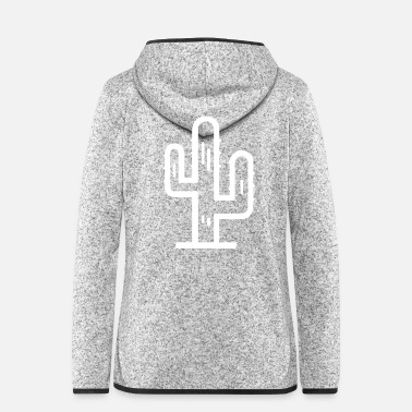 Big Cactus big - Women's Hooded Fleece Jacket
