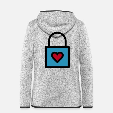 Lovely Padlock, love lock - Women's Hooded Fleece Jacket