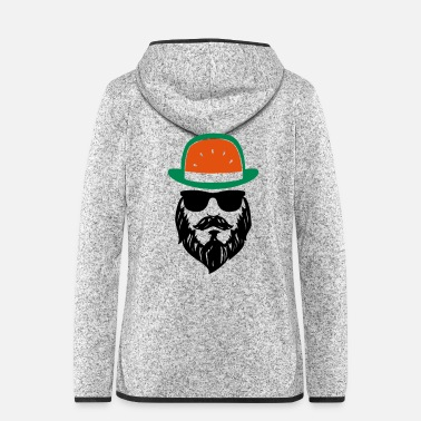Gentleman Bärtiger Mann mit Melonen-Hut - stay cool… - Frauen Fleece Kapuzenjacke