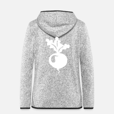 Freak Radishes Vegetables Health Vegetarian Vegans - Women's Hooded Fleece Jacket