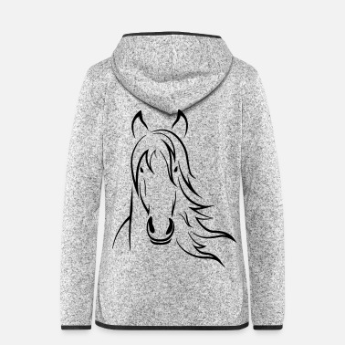 Horse Lover - Women's Hooded Fleece Jacket