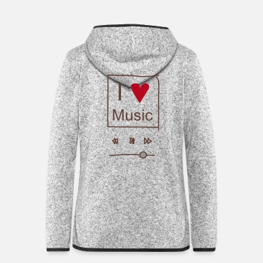 Mp3 I love Music - Frauen Fleece Kapuzenjacke
