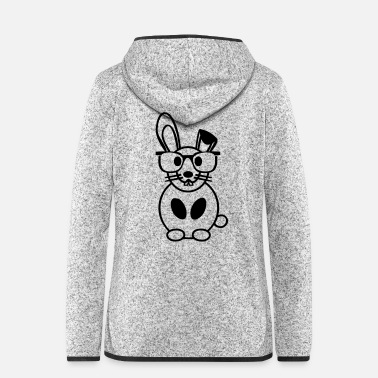 Rodent funny easter bunny bunny animal love gift easter - Women's Hooded Fleece Jacket