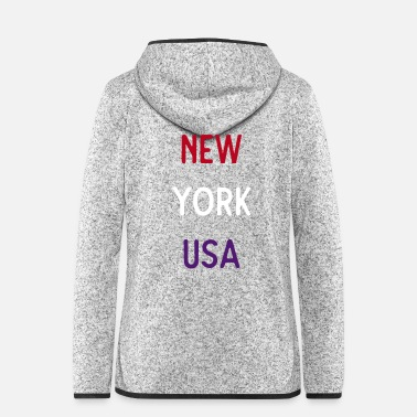Los Angeles New York USA - Women's Hooded Fleece Jacket