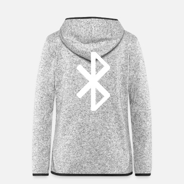 Mp3 Bluetooth Symbol - Frauen Fleece Kapuzenjacke