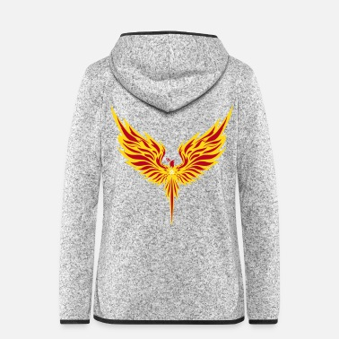 Tatoo Phenix - Frauen Fleece Kapuzenjacke