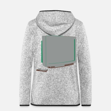 Television TV - Frauen Fleece Kapuzenjacke
