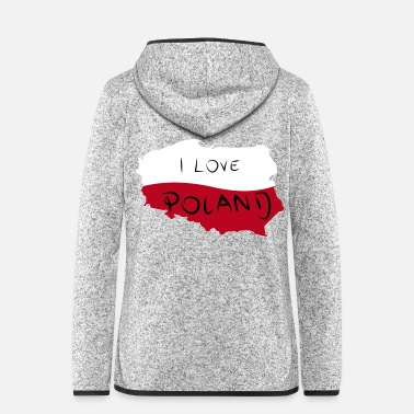 I Heart I Love Poland - Frauen Kapuzen-Fleecejacke