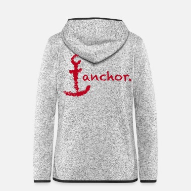 Navy anchor. - Frauen Fleece Kapuzenjacke