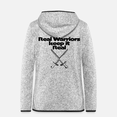 Rasta 12 Real Warriors keep it Real - Frauen Fleece Kapuzenjacke