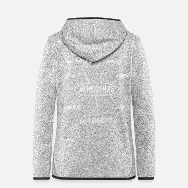Christmas christmas mindmap - Women's Hooded Fleece Jacket