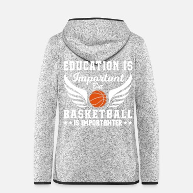 Offensive Basketball Is Importanter - Frauen Fleece Kapuzenjacke