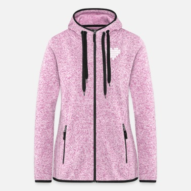 Pixel Pixel Love / pixel heart - Women's Hooded Fleece Jacket