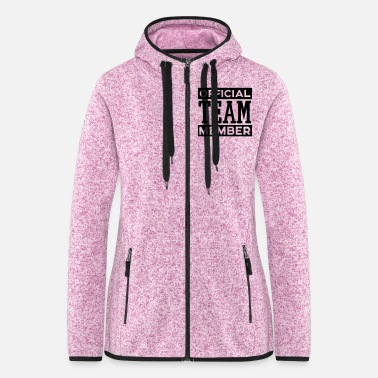 Vip OFFICIAL TEAM MEMBER - Frauen Fleece Kapuzenjacke