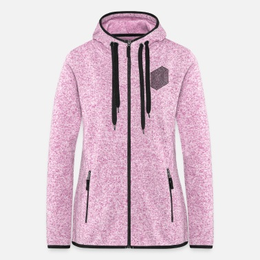 Optical Illusion (Impossible Minimal B & W Lines) - Women's Hooded Fleece Jacket