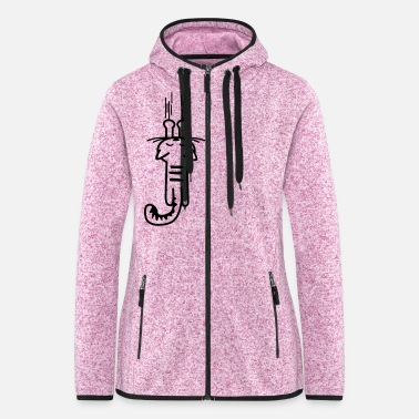 Scratch scratching kitty - cat - cats -  - Women's Hooded Fleece Jacket