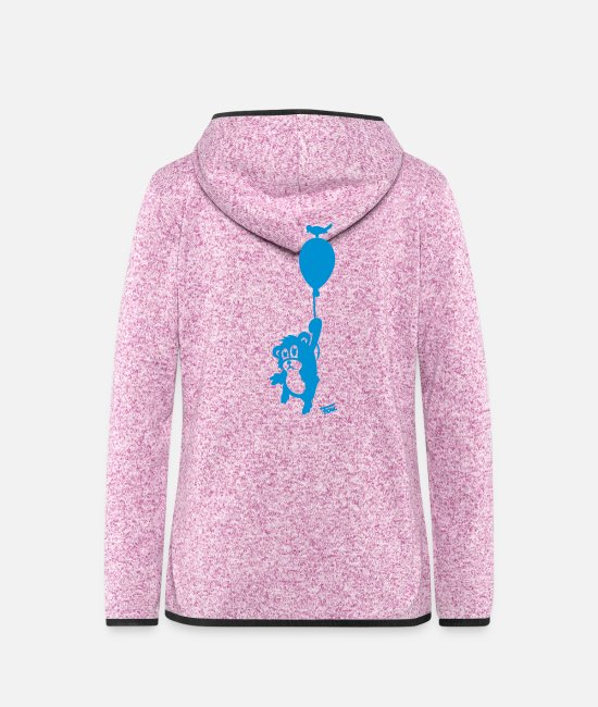 Float Jackets - Hamster balloon - bold - Women's Hooded Fleece Jacket purple heather