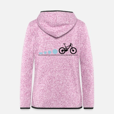 Mountain Bike Evolution - Women's Hooded Fleece Jacket