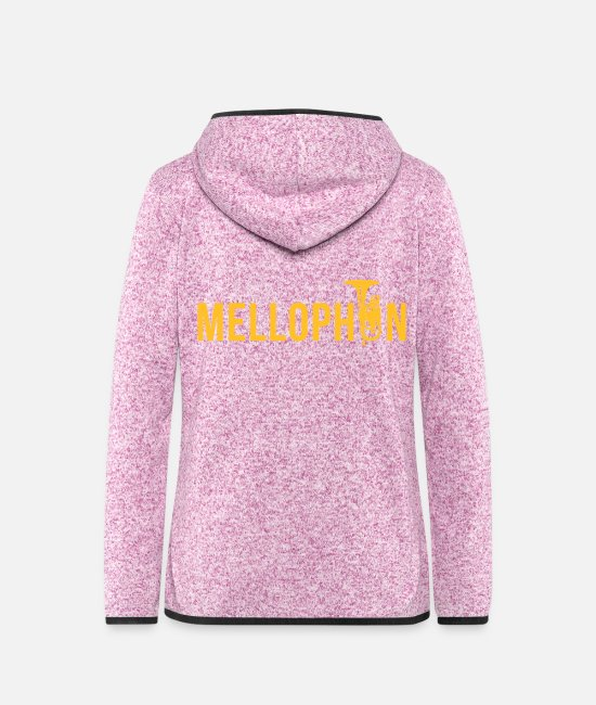 Wind Instrument Jackets - mellophon wind instrument band Chapel - Women's Hooded Fleece Jacket purple heather