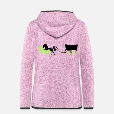 Pony carriage horses 2 - Women's Hooded Fleece Jacket