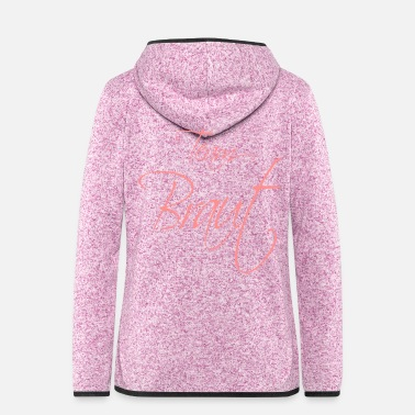Heiraten Team Braut rosa - Frauen Fleece Kapuzenjacke