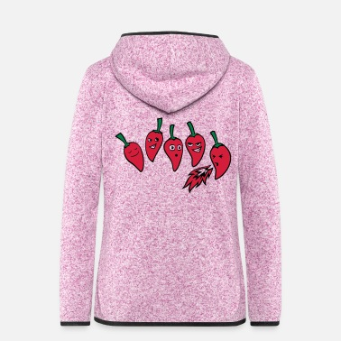 Heat Chilli Heat Scale - Women's Hooded Fleece Jacket