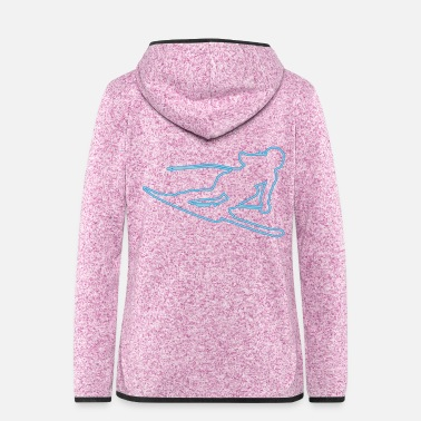 Pretty Skier neon - Women's Hooded Fleece Jacket