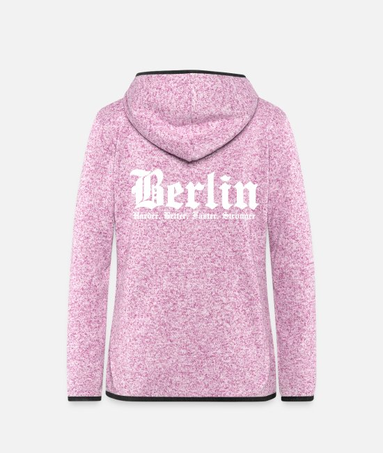 Spandau Jackets - Berlin Harder Better Faster Stronger Capital - Women's Hooded Fleece Jacket purple heather