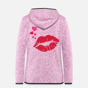 Kiss kiss - Frauen Fleece Kapuzenjacke