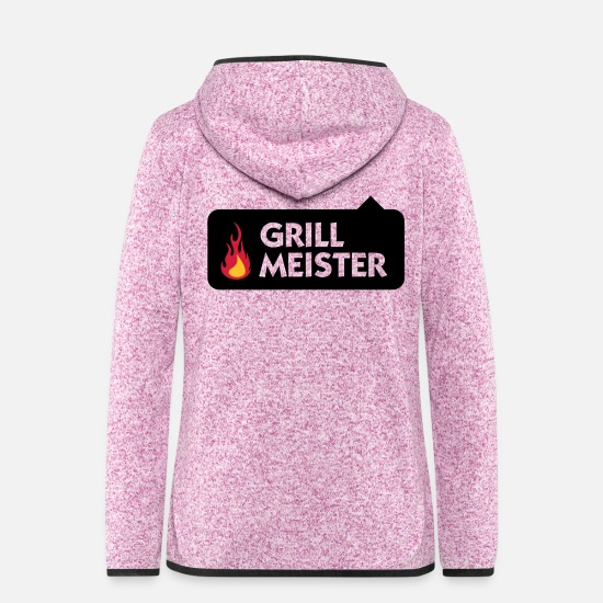 Miscellaneous Jackets - I am the grill master! - Women's Hooded Fleece Jacket purple heather
