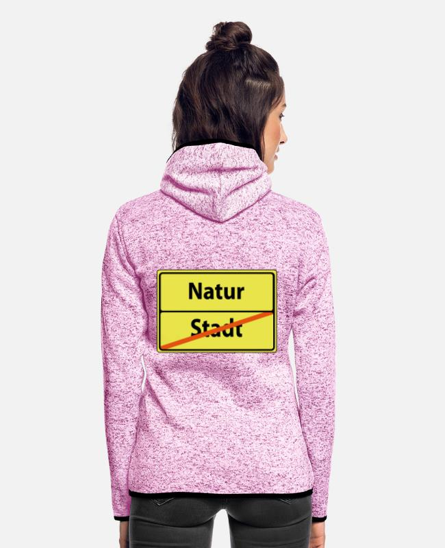 Nature Jackets - natur - Women's Hooded Fleece Jacket purple heather