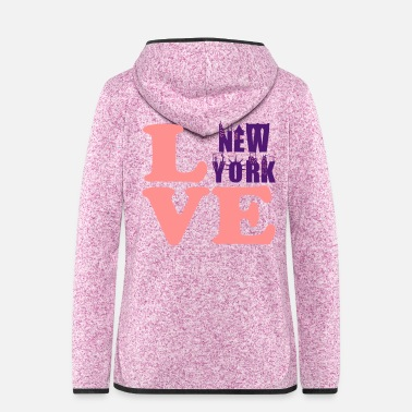 Nyc • ° • Io amo NewYork-Best City NYC Text Design - Giacca di pile con cappuccio donna