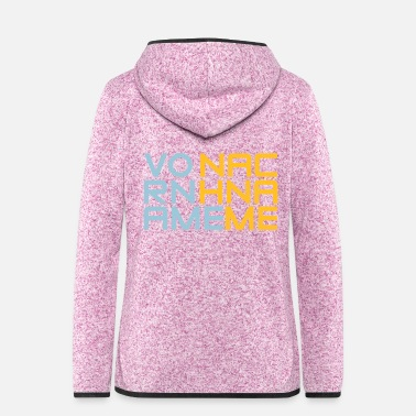 Name first name Last Name - Women's Hooded Fleece Jacket