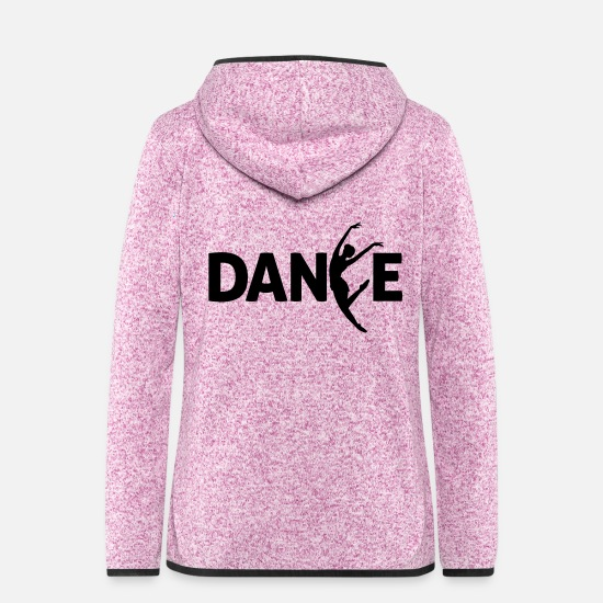 Dancer Jackets - dance - Women's Hooded Fleece Jacket purple heather